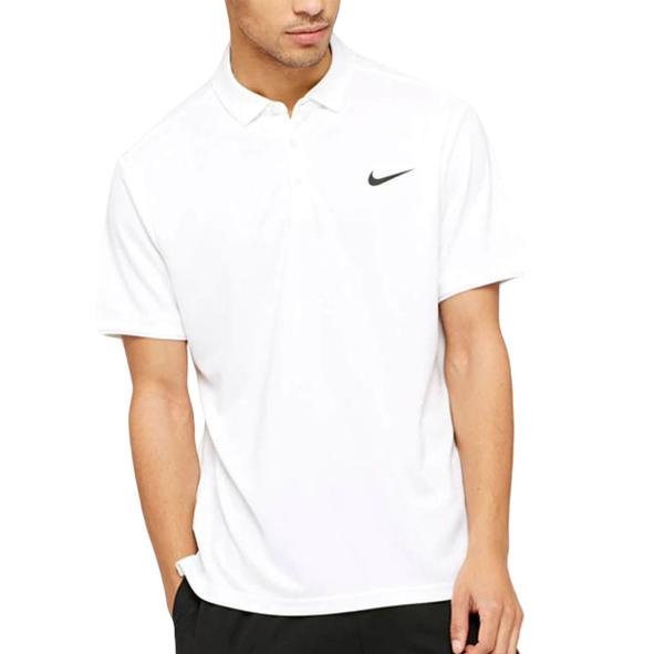 NikeCourt Dry Team Polo 830849 103 Erkek T-shirt 591 x 591 pixel beyaz